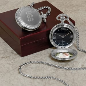 Engraved Photo Pocket Watch