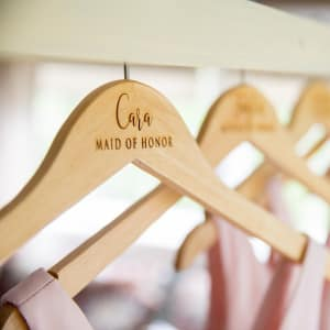 Personalized Wooden Wedding Hanger