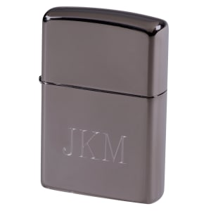 Engraved Gunmetal Zippo Lighter
