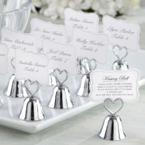 Kissing Bells Wedding Place Card Holder
