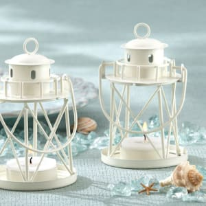 By the Sea Lighthouse Tea-Light Holder Favor