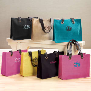 Colorful Jute Tote