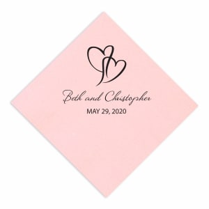 Intertwined Hearts Napkin