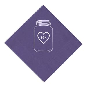 Mason Jar Love Napkin