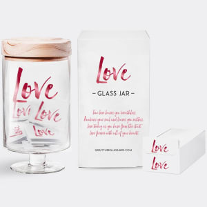 Love Gratitude Glass Jar