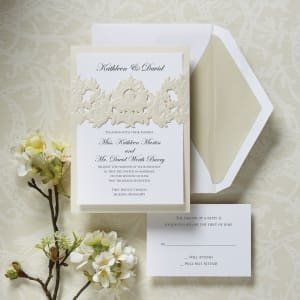 Victorian Damask Wedding Invitation