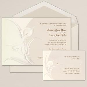 Classic Calla Wedding Invitation