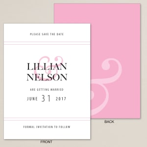 Love & Affection Save the Date Card