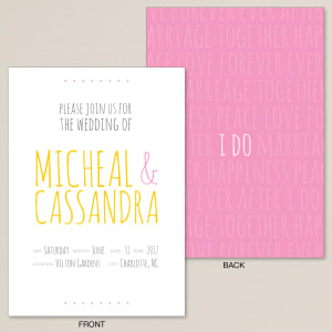 Love Letter Wedding Invitation
