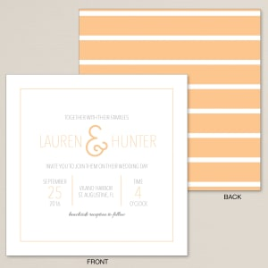 Typed Together Wedding Invitation