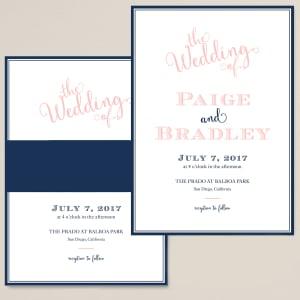 Dashing Love Wedding Invitation