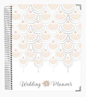 Bloom 18-Month Wedding Planner, Silver Scallops