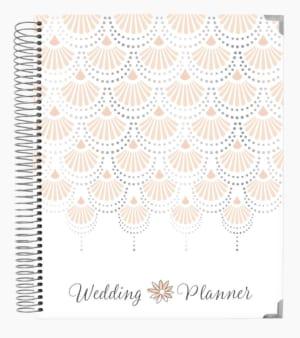 Bloom 18-Month Wedding Planner, Silver Scallops