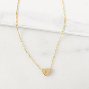 Personalized Heart Slide Pendant Necklace