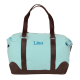 Cotton Canvas Getaway Duffle in Clearwater Blue