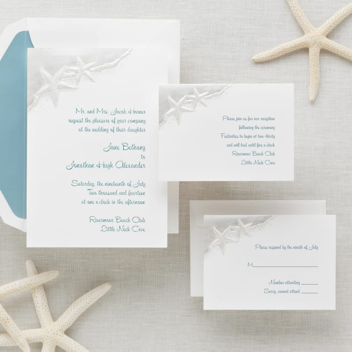 Starfish Wedding Invitation Exclusively Weddings