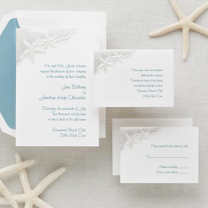Starfish Wedding Invitation | Exclusively Weddings