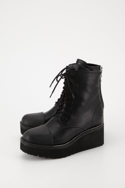 RUBBER TOE LACE UP Boots