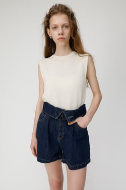 RAMIECOTTON Crew Neck Knit Top