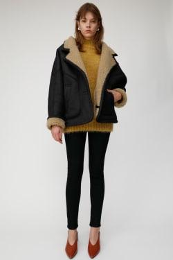 FAUX MOUTON DOLMAN jacket