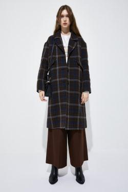 VIVID CHECK coat