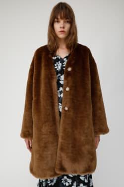 FAUX FUR A LINE coat