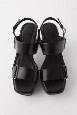 DOUBLE BELT PLATFORM Sandals