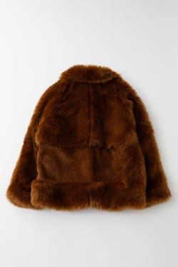 TRIMMED FAUX FUR jacket
