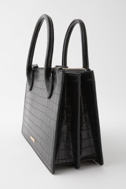 DOUBLE ZIP EMBOSS SHOULDER bag