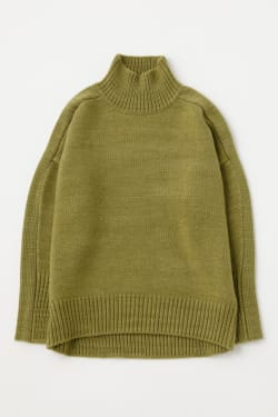 COCOON SILHOUETTE TURTLE KNIT TOP