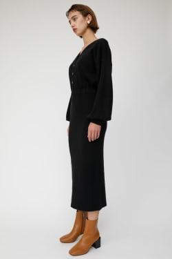 FRONT BUTTON KNIT dress