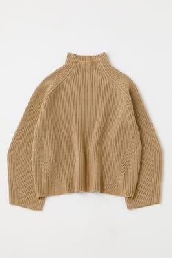 HIGH NECK RAGLAN RIB Sweater