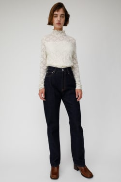 WRINKLE LACE HIGH NECK Tops