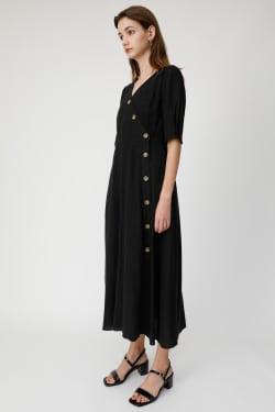 DIAGONAL BUTTON Dress