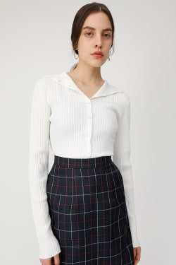 2 WAY BUTTON knit tops