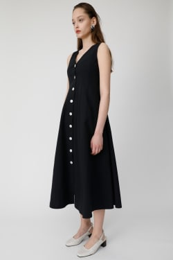 BUTTON UP WAIST TUCK Dress
