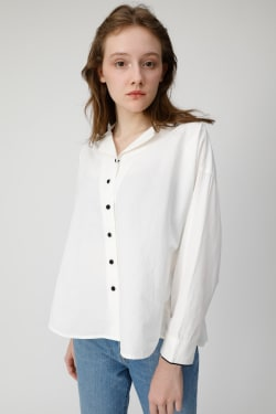 OPEN COLLAR LONG SLEEVE shirt