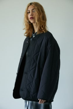 RIVER QUILTED COCOON JACKET