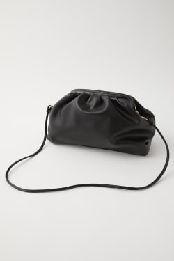 FAUX LEATHER GATHER MINI BAG