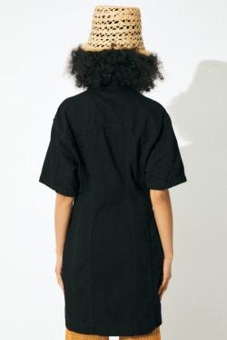 SHORT SLEEVE DENIM MINI dress