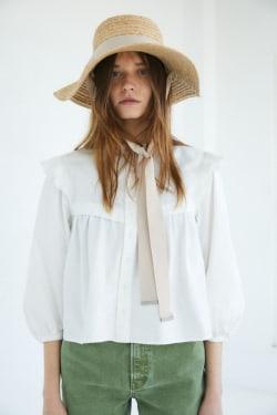 RUFFLE INDIGO blouse