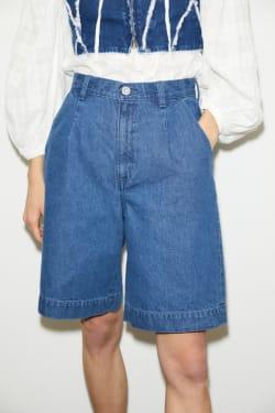 High Waisted DENIM HALF pants