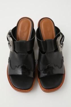 WESTERN MOTIF WOOD sandals