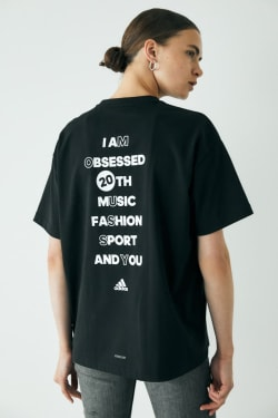 ADIDAS X MOUSSY Double BACK PRINT SS TEE