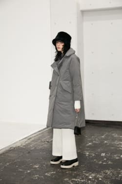 OS TRENCH COLLAR DOWN COAT