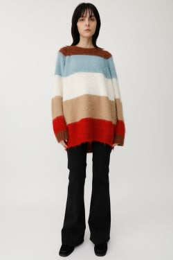 MULTI BORDER Knitted sweater