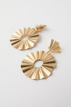 BELLOWS FOLD EARRINGS