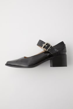 BLOCK HEEL STRAP pumps