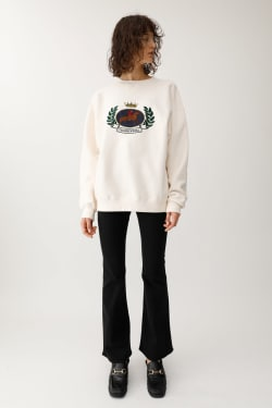 EMBROIDERY EMBLEM Pullover