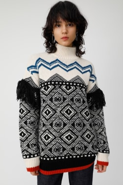 MIX PATTERN FRINGE knit